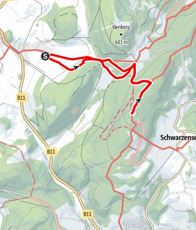Mapa / Erlebnisweg Peilstein