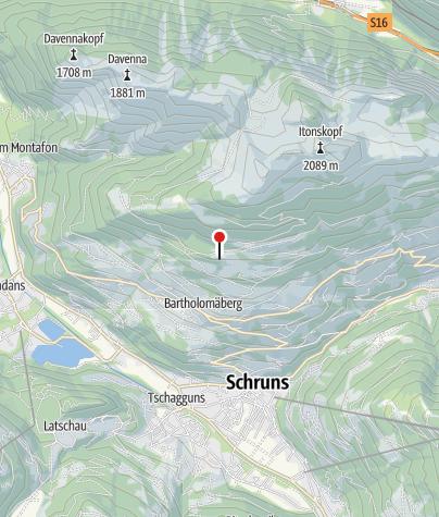 Karte / Berghaus Bartholomäberg