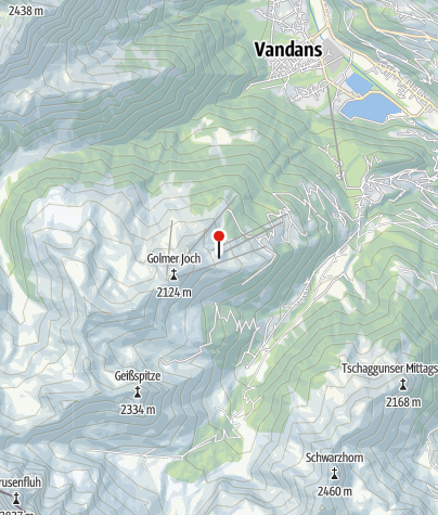 Kaart / Berghof Golm