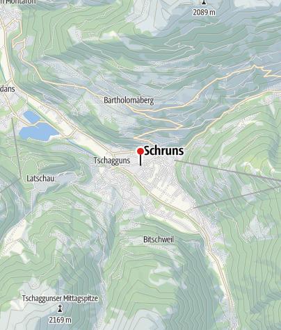 Karte / Campingplatz Montafon