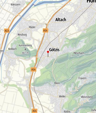 Karte / Götzis, Alte Pfarrkirche Heiliger Ulrich
