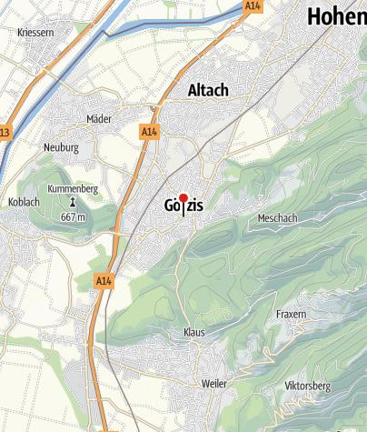 Kaart / Götzis, Neue Pfarrkirche Heiliger Ulrich