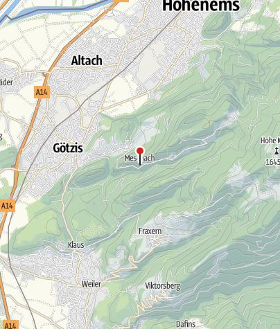 Karte / Götzis - Meschach, Kuratienkirche Heiliger Wolfgang