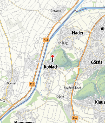 Karte / Koblach, Pfarrkirche Heiliger Kilian