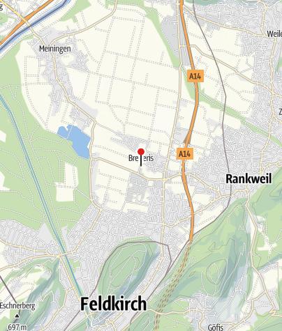Karte / Rankweil - Brederis, Kirche Heilige Anna
