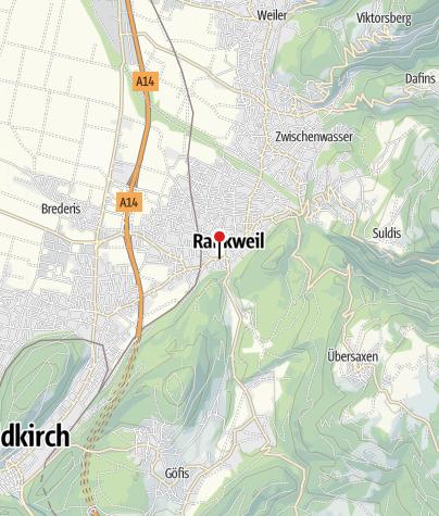 Karte / Rankweil, Pfarrkirche Heiliger Petrus