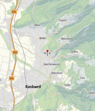 Karte / Röthis, Pfarrkirche Heiliger Martin