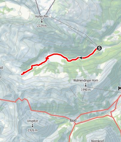 Karte / Von der Auenhütte zur Melköde und Schwarzwasserhütte