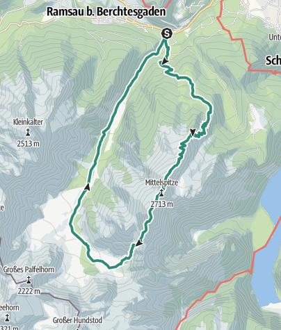 Karte / Watzmann Überschreitung