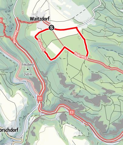 Karte / Über dem Tiefen Grund: kleiner Spaziergang um Waitzdorf