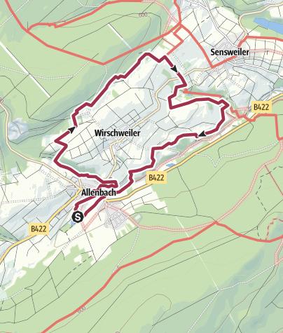 Map / Traumschleife Zwischen den Wäldern