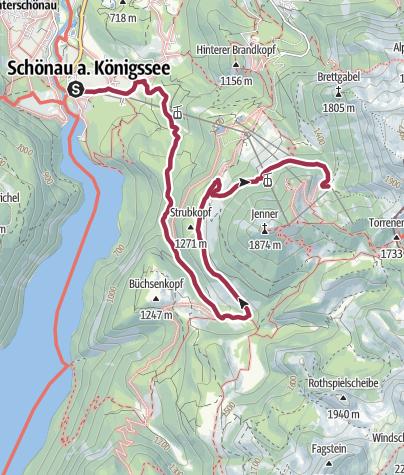 Karte / Wanderung zur Mitterkaseralm