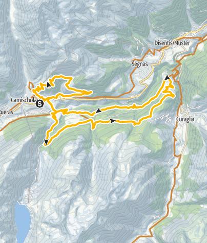 Karte / 206 Stausee Nalps - Cavorgia