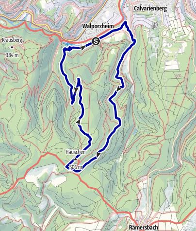 Karte / Über die Höhen von Ahrweiler