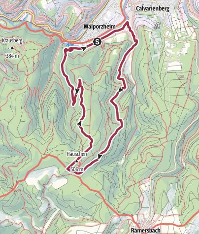 Map / Über die Höhen von Ahrweiler