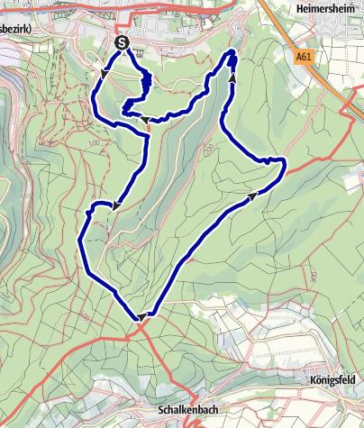 Karte / Auf Waldwegen und Aussichtstürmen in Bad Neuenahr