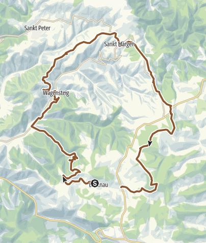 Karte / Breitnauer Höhentour