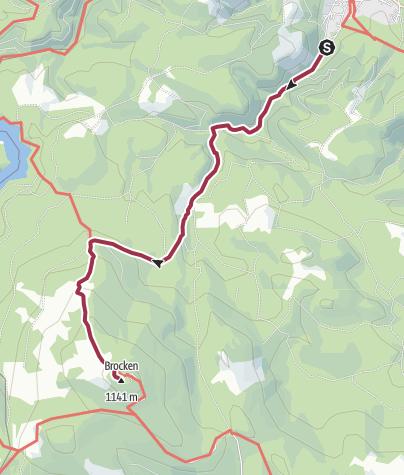 Karte / Wege zum Brocken - Heinrich-Heine-Weg