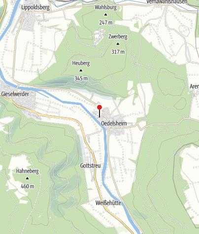 Karte / Campingplatz - Campen am Fluss - Oberweser/Oedelsheim