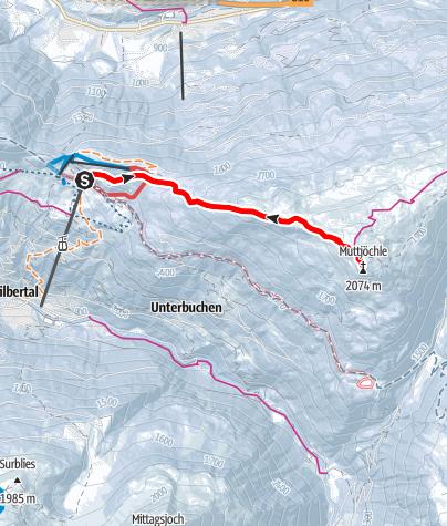 Karte / Vom Kristberg auf das Muttjöchle und retour