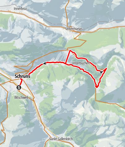 Kaart / Bergknappen Tour