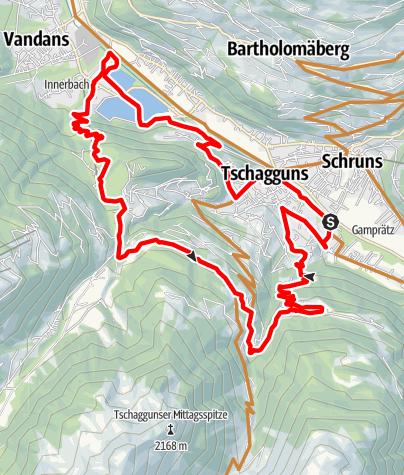 Karte / Stausee Tour Latschau - Bitschweil