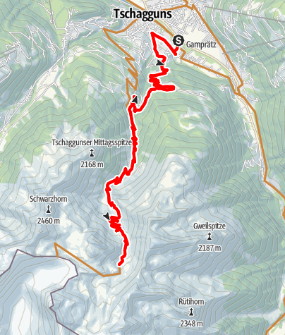 Map / Alpe Tilisuna Tour
