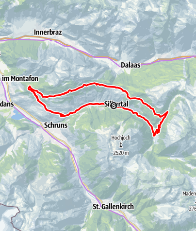 Karte / Silbertal - Kristberg - Rellseck