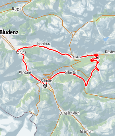 Karte / Wasserstubental Tour