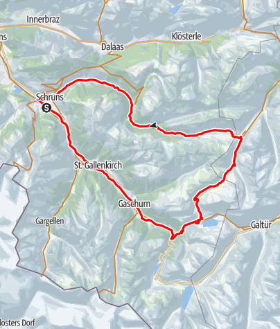 Karte / Silbertaler Winterjöchle Tour