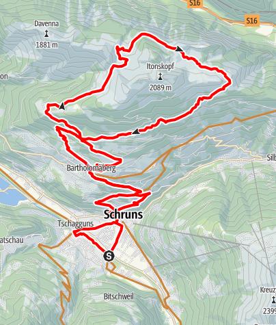 Karte / Rund um den Itonskopf Tour