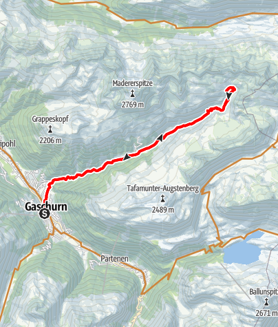 Map / Valschaviel Tour