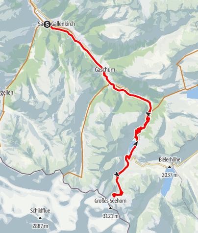 Karte / Saarbrücker Hütte Tour