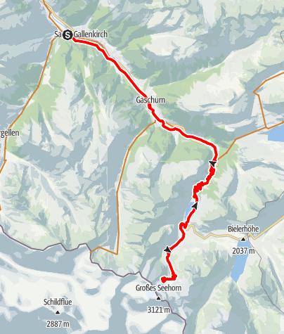 Map / Saarbrückner Hütte Tour