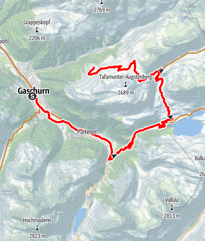 Kaart /  Alpe Gibau Tour
