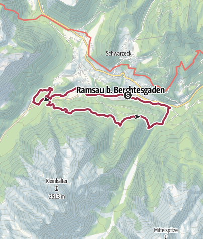 Karte / Rundwanderung Ramsau