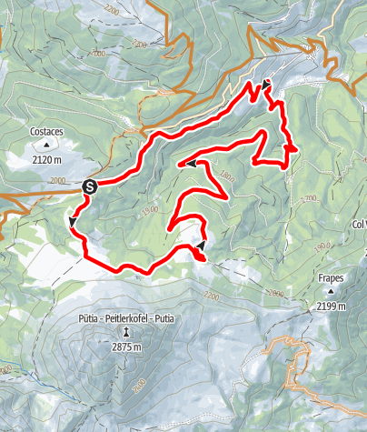 Mapa / Panorama-MTB-Tour zum Würzjoch