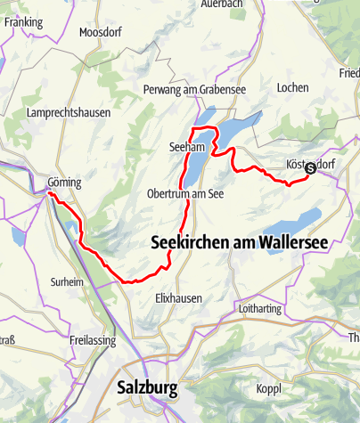 Karte / Mozart-Radweg Etappe 05: Köstendorf - Laufen