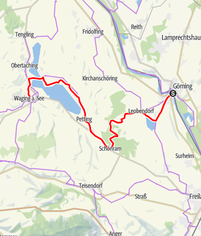 Map / Mozart Cycle Path – Stage 06: Laufen – Waging am See