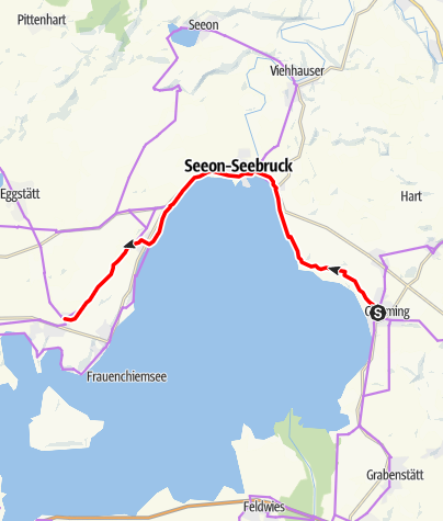 Map / Mozart Cycle Path – Stage 08:  Chieming am Chiemsee - Breitbrunn am Chiemsee