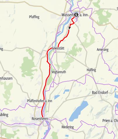 Map / Mozart Cycle Path – Stage 10: Wasserburg am Inn – Rosenheim am Inn
