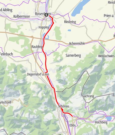 Map / Mozart Cycle Path – Stage 11: Rosenheim am Inn – Niederndorf