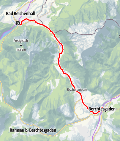 Map / Mozart Cycle Path – Stage 15: Bad Reichenhall – Berchtesgaden