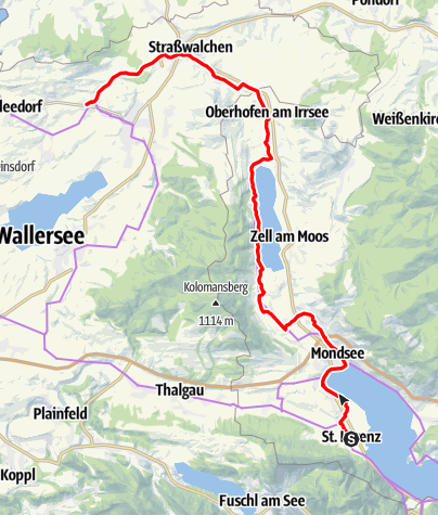 Map / Mozart Cycle Path – Stage 17: St. Lorenz – Köstendorf (Connecting Route)