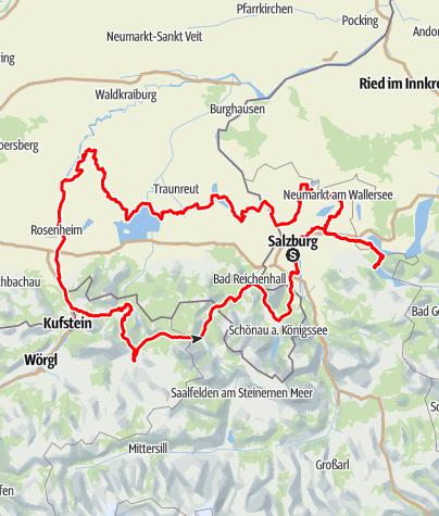Karte / Mozart Radweg - Gesamtverlauf