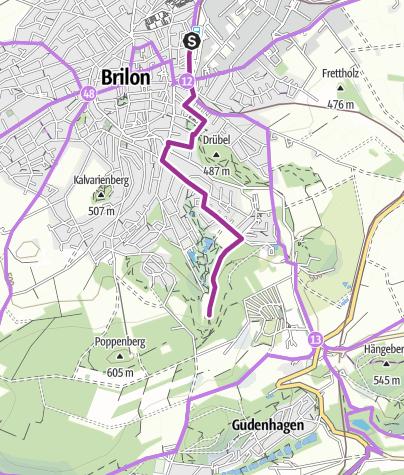 Karte / MöhnetalRadweg - Bahnhof Brilon zur Möhnequelle