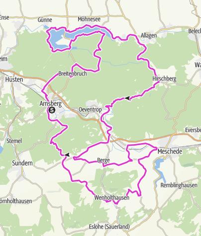 Kaart / Bike Arena Sauerland - Möhne & Arnsberger Wald