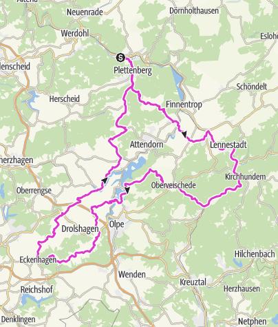 Karte / Bike Arena Sauerland - Plettenberg Zweitausend