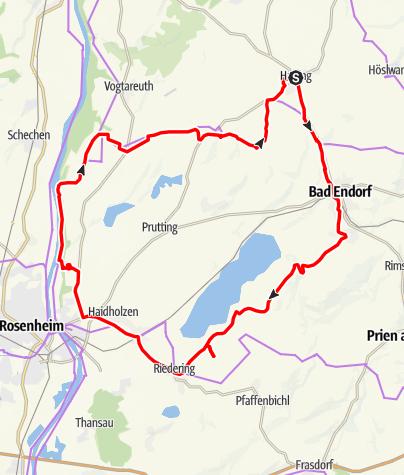 Karte / Wallfahrtskirchen-Tour von Halfing nach Leonhardspfunzen