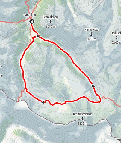 Map / Rund um die Ritzenspitzen